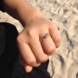 画像5: 薄ブルーダイヤのゴールドリング