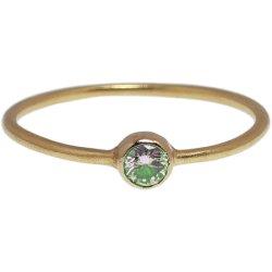 画像1: グリーンダイヤのゴールドリング