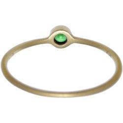 画像3: グリーンダイヤのゴールドリング