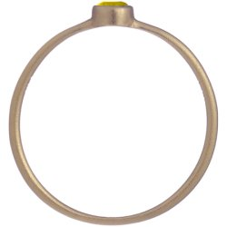 画像2: イエローダイヤのゴールドリング