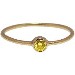 画像1: イエローダイヤのゴールドリング