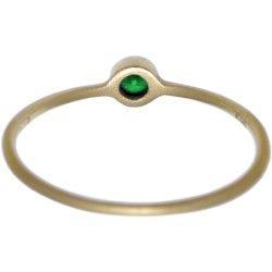 画像3: 濃いグリーンダイヤのゴールドリング