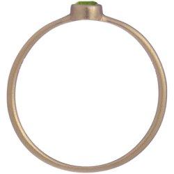 画像2: オリーブグリーンダイヤのゴールドリング