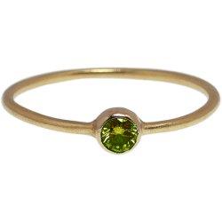 画像1: オリーブグリーンダイヤのゴールドリング