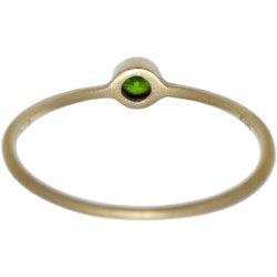 画像3: オリーブグリーンダイヤのゴールドリング