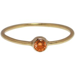 画像1: オレンジダイヤのゴールドリング