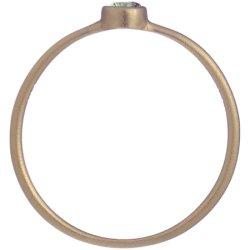画像2: 薄いグリーンダイヤのゴールドリング