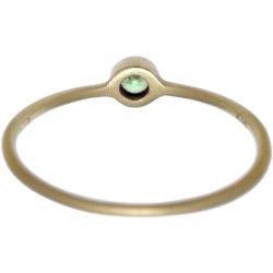 画像3: 薄いグリーンダイヤのゴールドリング