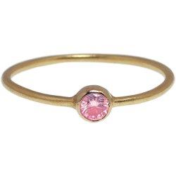 画像1: ピンクダイヤのゴールドリング