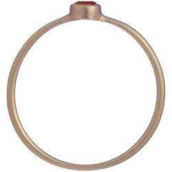 画像2: レッドダイヤのゴールドリング
