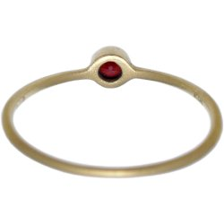 画像3: レッドダイヤのゴールドリング